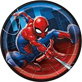 Unique Spiderman Paper Cake Plates, 8Ct