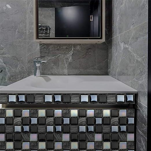 Large 3D Mirror Tiles Mosaic Wall Stickers Self Adhesive Bedroom Bathroom Decor