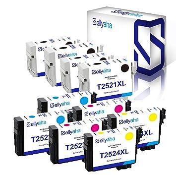 Sellyaha 252XL - Cartucho de Tinta remanufacturado para impresoras ...