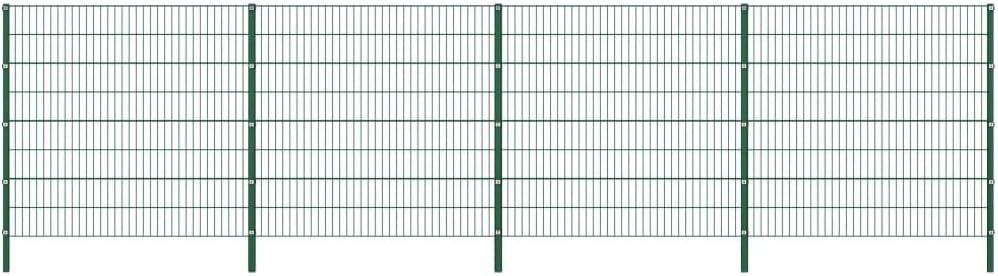 vidaXL Panel de Valla con Postes de Hierro Accesorios de Jardín Ocultación Privacidad Diseño Simple Funcional Resistente Intemperie Verde 6.8x1.6m: Amazon.es: Bricolaje y herramientas