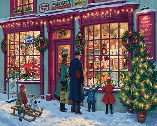 White Mountain Puzzles Christmas Toy Shop - 1000 Piece Jigsaw Puzzle -