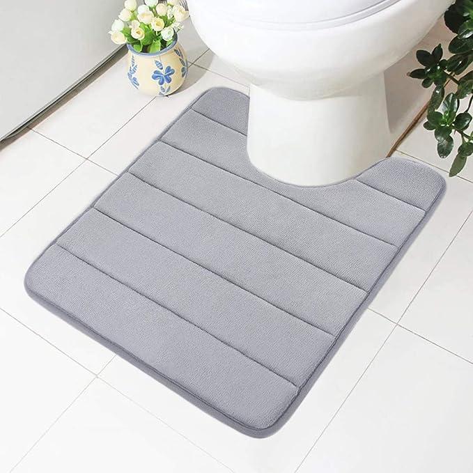 1x Rutschfest Schaumstoff Toilette Bad Fußmatte Waschbar Badezimmer Pad Teppich
