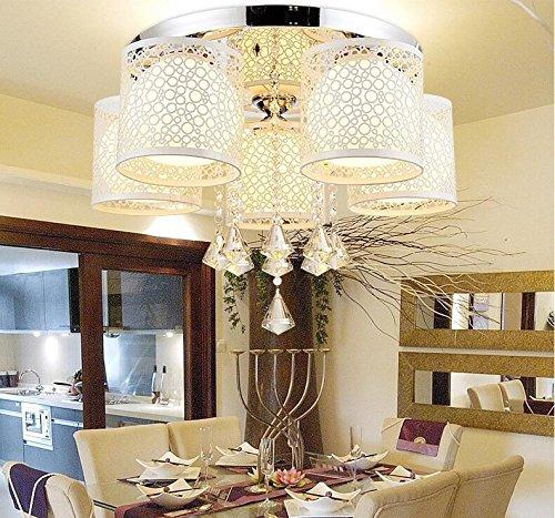 FAIL Moderne Kreative Rundschreiben Led Deckenleuchte Licht Kristall Lampe Schlafzimmer Wohnzimmer Warm Farbwechsel Restaurants 5 Head Crystal