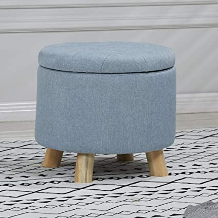 Stupendous Amazon Com Visual Taste Round Storage Ottoman European Gmtry Best Dining Table And Chair Ideas Images Gmtryco