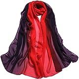 iYBUIA Fashion Lady Gradient Color Long Wrap Women's Shawl Chiffon Scarf Scarves
