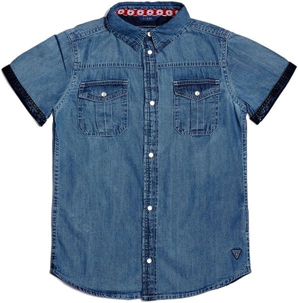 Guess - Camisa - para niño azul 16 años: Amazon.es: Ropa y accesorios