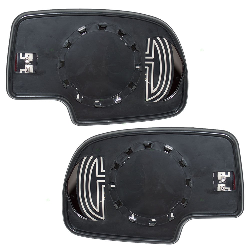 Driver and Passenger Power Side View Mirrors Glass /& Bases Heated for Chevrolet Cadillac GMC Pickup Truck SUV 88986362 88986363