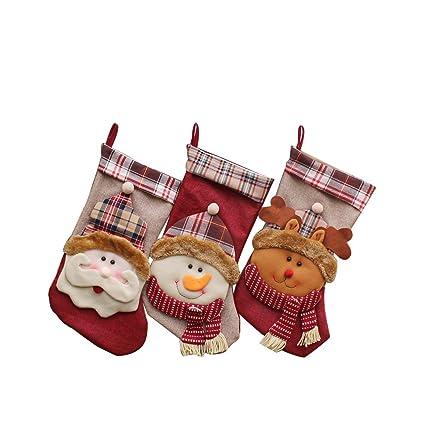 yamuda big size christmas stockings 3 pcs set classic stocking xmas gift holding for - Big Christmas Stockings