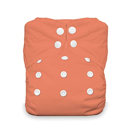 thirsties Onesize AIO Completo pañales Snap Talla:coral