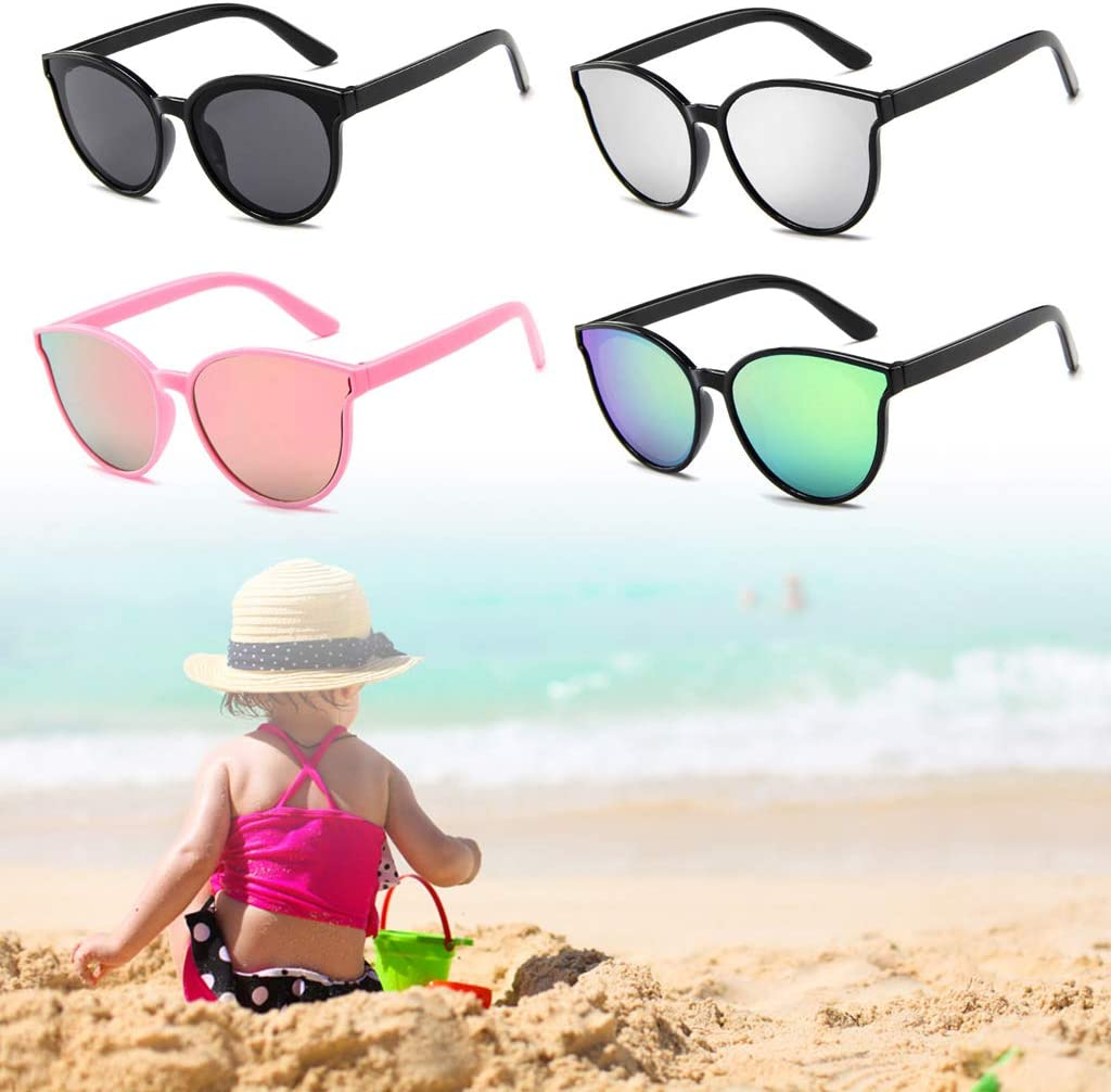 Linlin Kids Sunglasses Sun Glasses Children Eyewear Beach Outdoor Protection Eyes Care Gifts for Boys Girls 3#