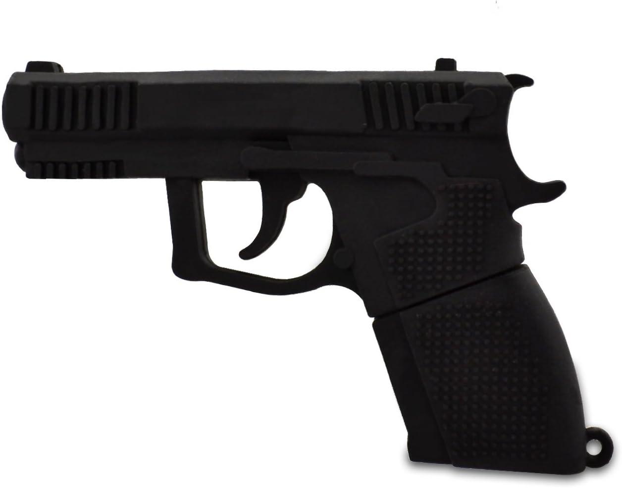 818-Shop No1640001 USB Stick Gun Revolver 3D Negro Adaptador de ...