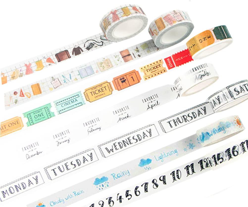 To Do list washi tape bullet journal accessories school supplies Check Box productivity heart washi tape check list planner accessory