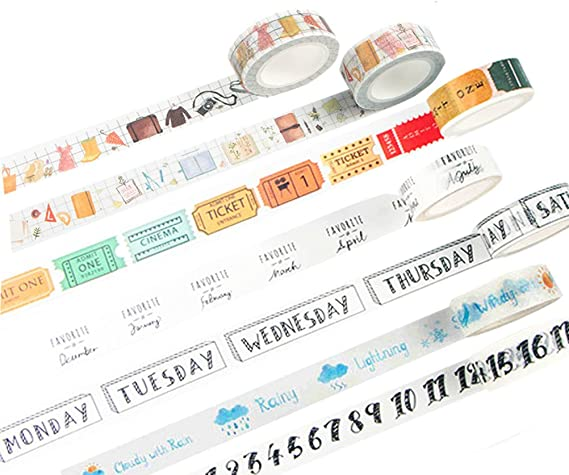 10 pieces Rolls set Planner washi tape Japanese masking tape Design Washi Tape wholesale Accessories Supplies Wholesale ss140-3