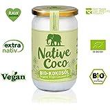 Olio di cocco bio extra nativo - grasso di cocco vegano - olio di noce di cocco spremuto a freddo | senza additivi | per cucinare, arrostire, cuocere in forno, per i capelli di Native Coco