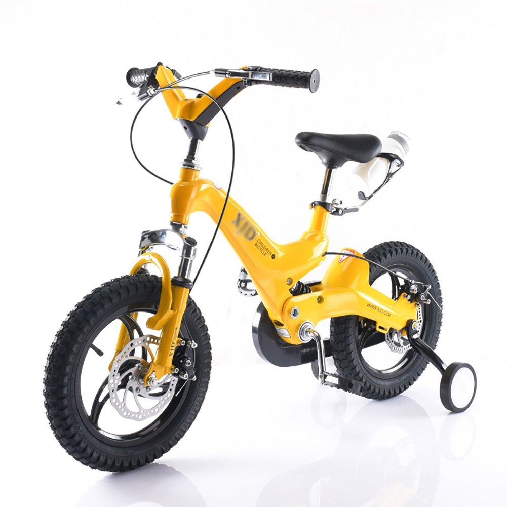 キッズバイク男の子と女の子マウンテンベビーキャリッジ14 16インチ3-4-6歳の子供の自転車白黄色の青いレッドゴールド B07DXCJNNX 16 inch|イエロー いえろ゜ イエロー いえろ゜ 16 inch