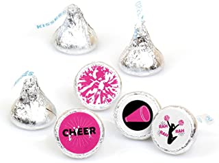 product image for We've Got Spirit - Cheerleading - Birthday Party or Cheerleader Party Round Candy Sticker Favors - Labels Fit Hershey's Kisses (1 Sheet of 108)