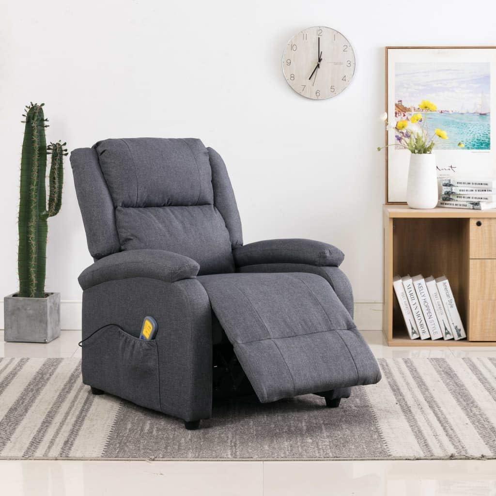 vidaXL Massagesessel Elektrisch Heizfunktion Fernsehsessel