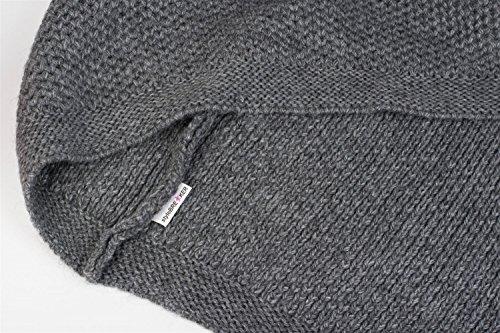 styleBREAKER - Poncho - capa - Básico - para mujer negro