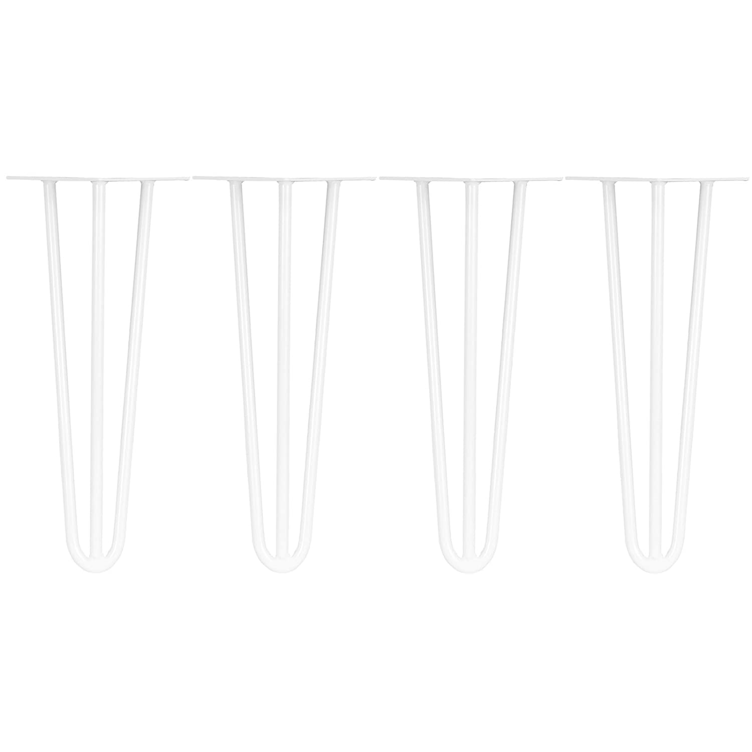 Length /& Thickness Hartleys Set of 4 Three-Rod Hairpin Table Legs Choice of Colour