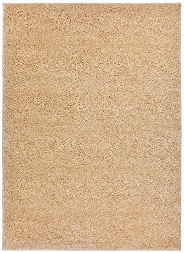 Soho Beige Rug Rug - SOHO Shaggy Collection Solid Color Shag Area Rug Rugs 7 Color Options (Beige, 8 x 10)