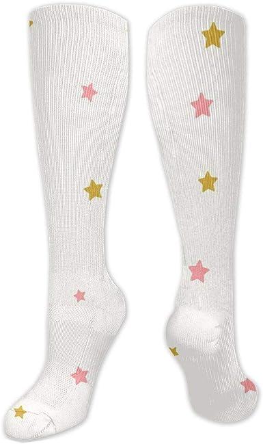 Boot Leg Socks Pink Stars