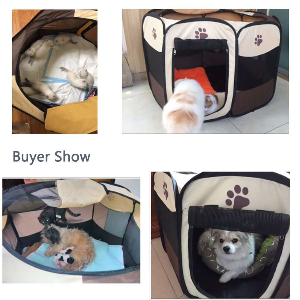 Dog Playpen Pet Cats Playpen Portable Exercise Kennel for Dogs Cats Exercise Kennel Indoor Pet Playpen Tent House For Small Dogs Cats