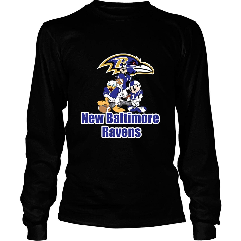Order COLOSTORE New Baltimore Ravens T Shirt Cartoon Movie T Shirt – Long Sleeve Tees