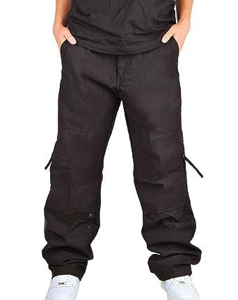 311857561f9 FEOYA - Pantalon Cargo Homme Grande Taille pour Travail - Pantalon Long en  Coton avec Poche