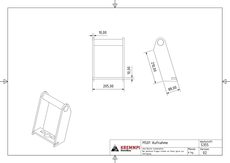 anschwei/ßrahmen adaptador Marco para MS01/SW01/Cambio R/ápido