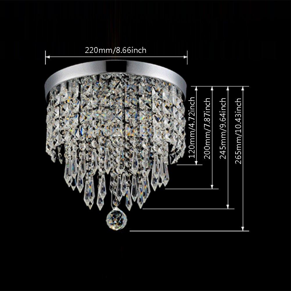 Hile Lighting KU300074 Modern Chandelier Crystal Ball Fixture Pendant Ceiling Lamp H9.84'' X W8.66'', 1 Light by Hile Lighting (Image #6)