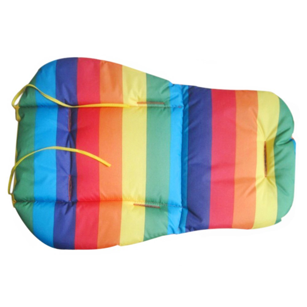 Brussels08 Waterproof Rainbow Baby Kids Car Seat Cotton Liner Padding Breathable Water Resistant Stroller Pushchairs Seat Cushion Pad Protector, Universal Fit (Blue)