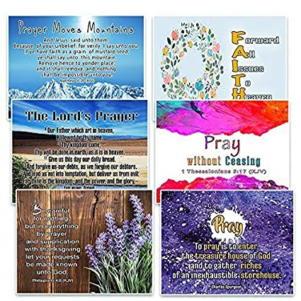 Christian Prayer Postcards Cards (30-Pack) - KJV - The Lord's Prayer - War  Room Decor - Inspirational Bible Verses Stocking Stuffers for Men Women