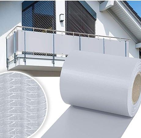 Sichtschutzstreifen PVC 65 m Zaunfolie Zaunblende Sicht Wind Schutz Grau 0,31€//m