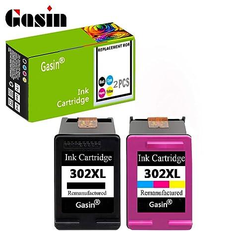 GASIN Cartucho de tinta remanufacturado para HP 302 xl (1Black y ...