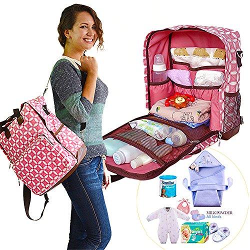 Kangming muiltifunction gran capacidad bebé pañal cambiantes mochila momia bolsa