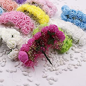 Foam Roses 144pcs Artificial Multi Color Fake Flower DIY Wedding Home Party Decoration & Wedding Car Corsage Decoration 2