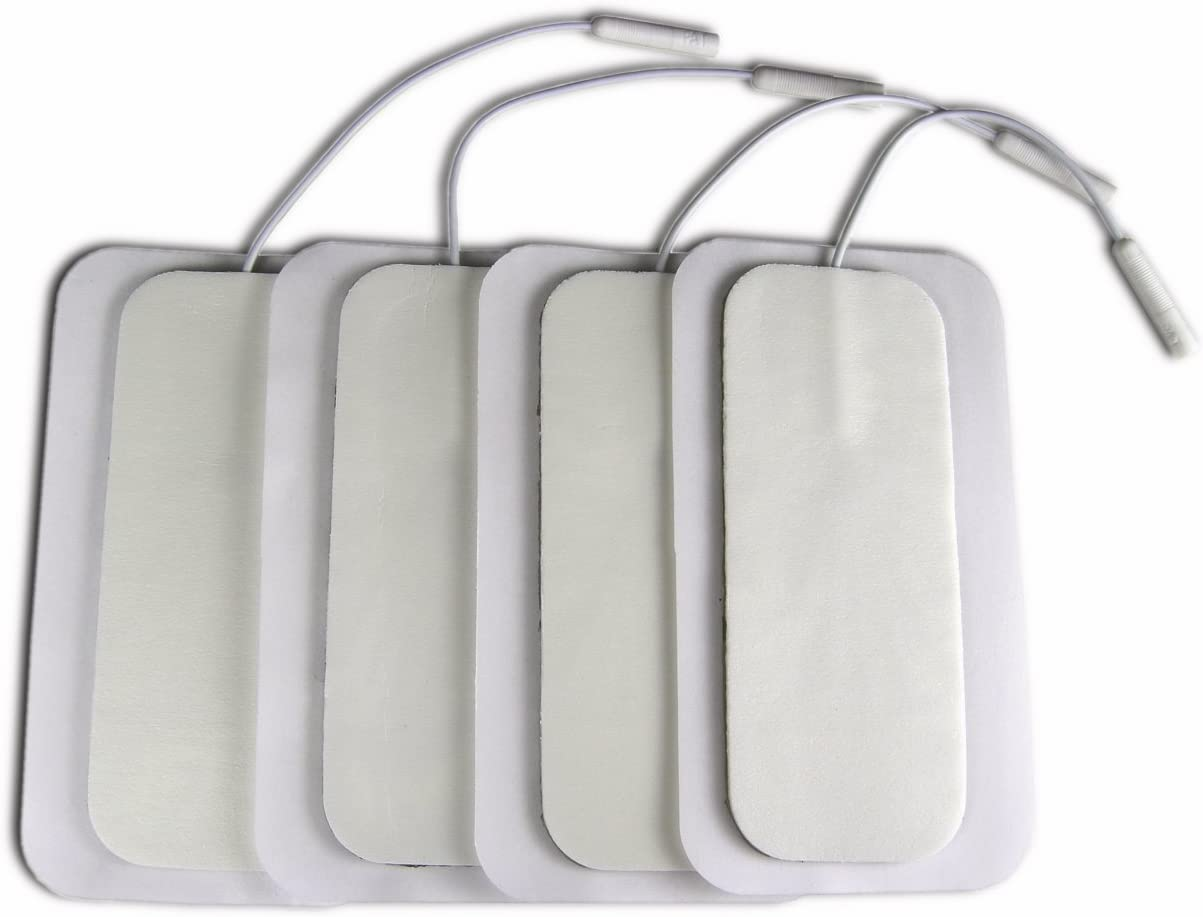Deluxe Obstetric Oblong TENS Electrodes by Natures Gate 4cm x 10cm 4 Pack
