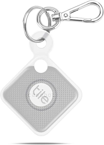 Fintie Silikon Schutzhülle Mit Karabiner Schlüsselanhänger Für Tile Pro 2020 2018 Kratzfest Leicht Weich Halbtransparent Weiß Elektronik