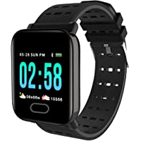 Mobifox A6 IP67 Waterproof Smart Watch Heart Rate Monitor Bracelet Wristband Watch for Mens/Activity Tracker/for Android iOS (Black)