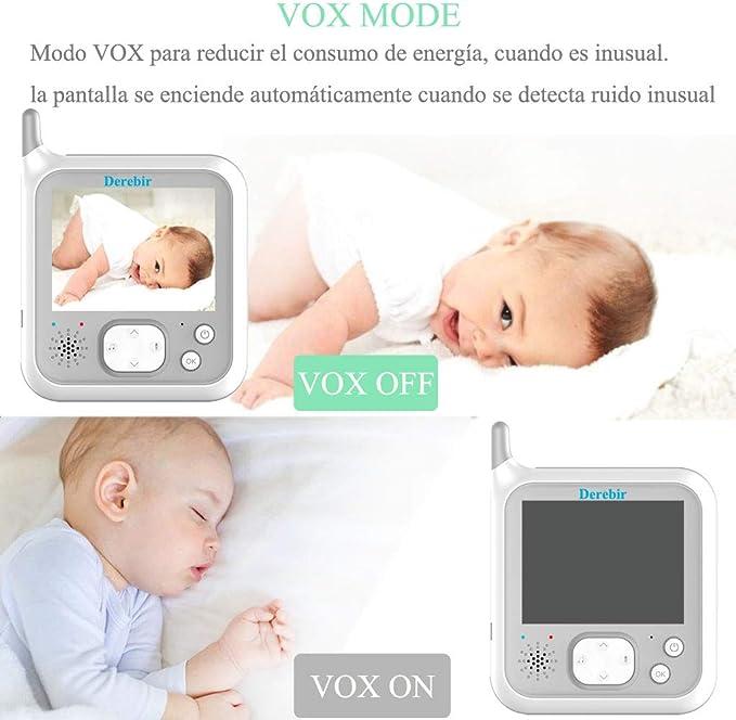Vigilabebés Inalambrico Bebé Monitor Inteligente con Cámara Audio ...