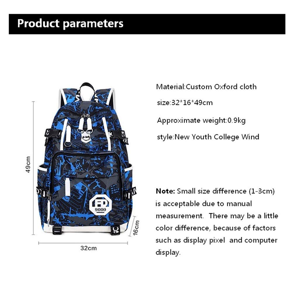 Amazon.com: Adolescent Girl Boy Waterproof Laptop School Bag Travelling Backpack with Usb charge: Clothing