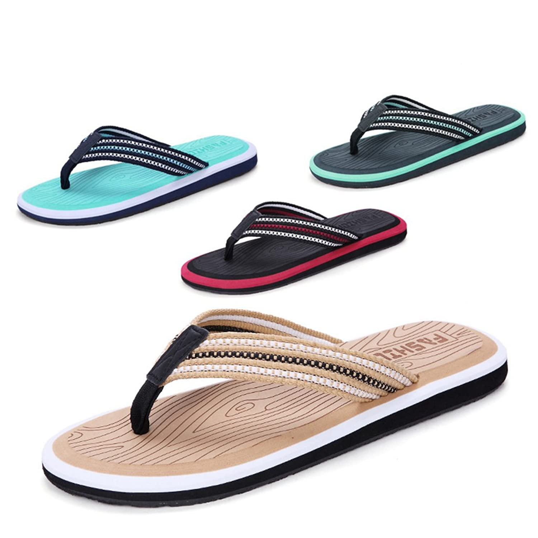 Summer Man Slipper, Sandalen Schuh mit Füßen Anti-Rutsch Strand Schuhe Flip Flops Fuß Hausschuhe Großformat Hotel Gästezimmer Slipper ( Farbe : A , größe : 28.5CM )