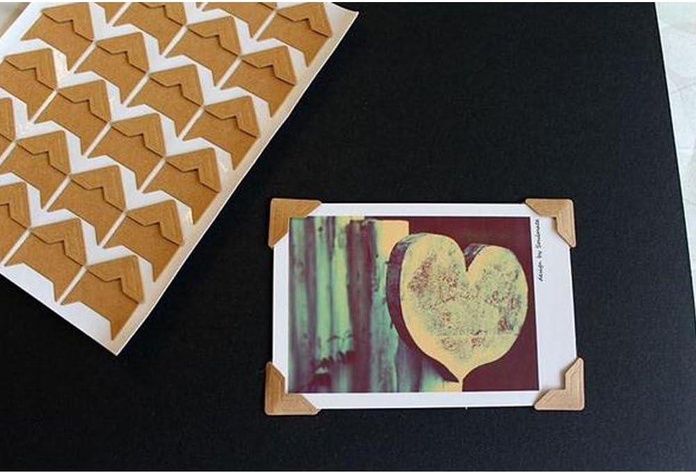 10/Hojas 240/pcs//Lot Bricolaje Vintage Esquina Pegatinas de Papel Kraft para /álbumes de Fotos Marco decoraci/ón Scrapbooking YiGo DIY Papel Pegatinas