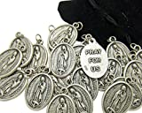 Bulk Medal Lot Set of 20 Our Lady of Guadalupe Metal Pendant 3/4 Inch W Bag From Italy