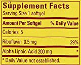 Nature Made Alpha Lipoic Acid Antioxidant 200 mg Softgels 30 Ct Discount
