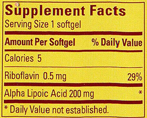 Nature Made Alpha Lipoic Acid Antioxidant 200 mg Softgels 30 Ct Discount