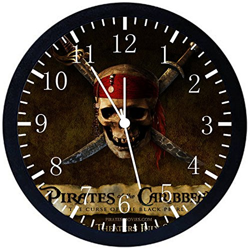Amazoncom Pirates Of The Caribbean Black Frame Wall Clock Y05 Nice