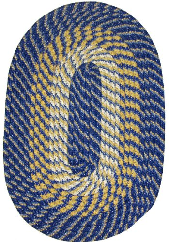 Plymouth Braided Rug in Federal Blue 5' ()