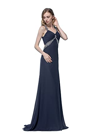 Amazon.com: Sleek Empire A Line Long Chiffon Prom Dress: Clothing
