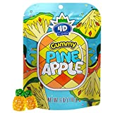 Amos Pineapple Gummy 4D Fruit Yellow Candy with Chewy Dainty Pineapple Jam Cupcake Decorated Confectionery Resealable Snacks Pack 6 Oz Per Bag(Pack of 12)